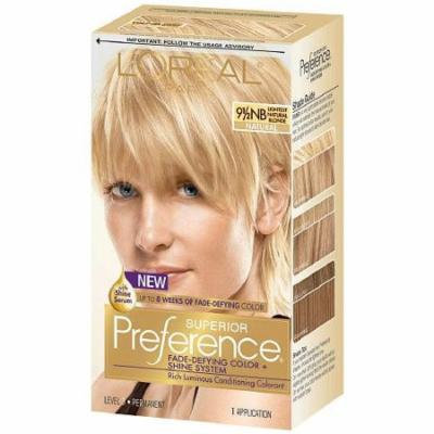L'Oreal Paris Superior Preference Permanent Hair Color, Lightest Natural Blonde 9.5NB 1.0 ea(pack of 2)