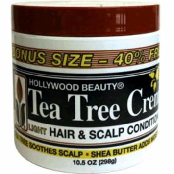 6 Pack - Hollywood Beauty Tea Tree Creme Hair & Scalp Conditioner, 7.5 oz