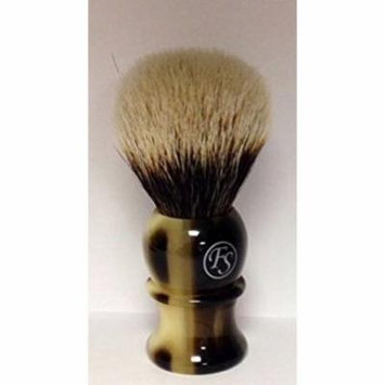 Best Badger Faux Horn Shaving Brush with Free Stand From Fs
