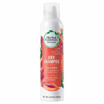 Herbal Essences Bio:Renew Volume Dry Shampoo White Grapefruit & Mosa Mint 4.9 oz.(pack of 4)