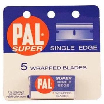 pal Single Edge Razor Blades, 5 Count