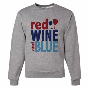 Custom Party Shop Unisex Red Wine & Blue 4th of July Sweatshirt - Small