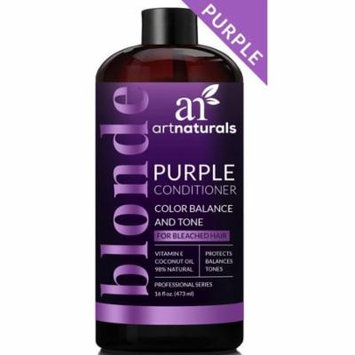 artnaturals Purple Conditioner for Blonde Hair – 16 Fl Oz – Protects, Balances and Tones – Bleached, Color Treated and Silver Hair