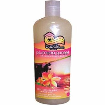 Hawaii Bubble Shack All in 1 Ultimate Kukui & Shea Body Wash Plumeria Sunset 2 Bottles