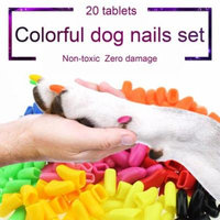 Black Cat Beauty Products 20Pcs Dog Anti-Scratch Nail Caps Soft Silicone Paw Nail Cover Nail Protectors