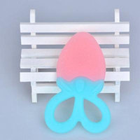 Lovely Strawberry Shape Food Grade Silicone Infant Baby Teether Non-toxic Comfort Chewing Toys Infant Supplies