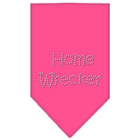 Mirage Pet Products 6738 LGBPK Home Wrecker Rhinestone Bandana Bright Pink Large