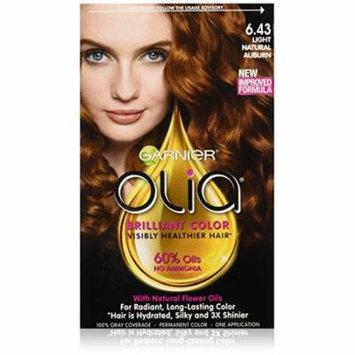 Garnier Olia Permanent Haircolor, 6.43 Light Natural Auburn 1.0 ea(pack of 2)