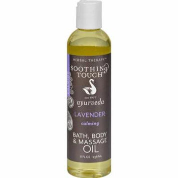 Soothing Touch HG0516914 8 oz Bath & Body Oil - Lavender