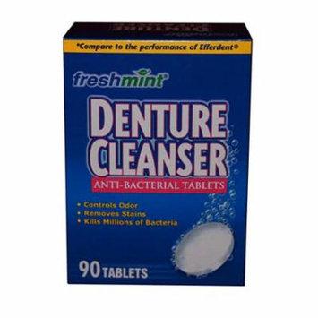 Freshmint denture cleanser tablets, 90 count, mint part no. dent90 (90/box)