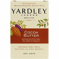 Yardley London Pure Cocoa Butter & Vitamin E Bar Soap, 4.25 Ounces /120 G (Pack of 2)
