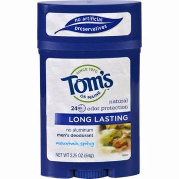 Tom's Of Maine Men's Deodorant Mountain Spring - 2.25 Oz - Pack of 6