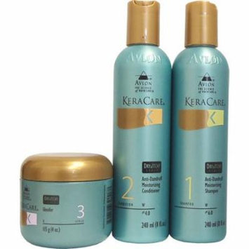 Keracare Dry & Itchy Scalp Moisturizing Shampoo & Conditioner 8oz & Glossifier 3.9oz