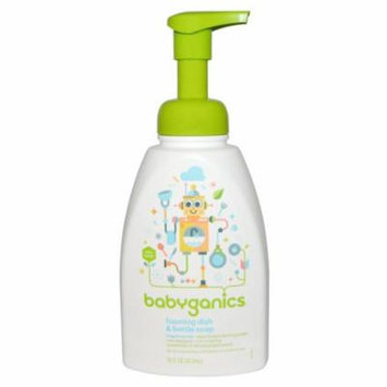 BabyGanics, Foaming Dish & Bottle Soap, Fragrance Free, 16 fl oz (pack of 12)