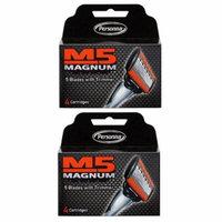 Personna M5 Magnum 5 Refill Razor Blade Cartridges, 4 ct. (Pack of 1) + Schick Slim Twin ST for Sensitive Skin