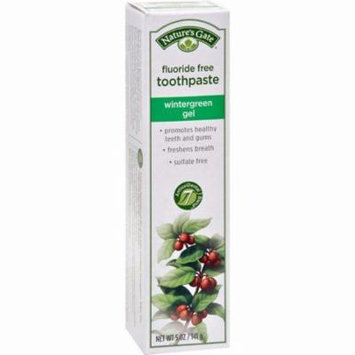 Nature's Gate Natural Toothpaste Gel Flouride Free Wintergreen - 5 Oz - Pack of 6