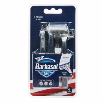 Barbasol Ultra 3 Premium Razors Disposable, 4 Ea