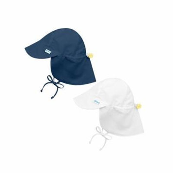 i play Baby and Toddler Flap Sun Protection Hat-Navy and White - 2 Pack