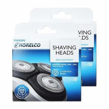 Replacement Shaving Head for Norelco SH30/52 Compatible With PT724/41 / S1160/81 Models (2 Pk)