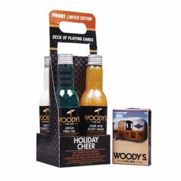 Woody's Holiday Cheer: Conditioner, Hair&Body Wash,Shampoo, Mega Firm Gel 6.3 oz