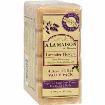 A La Maison HG1015718 Lavender Flower Bar Soap, Pack of 4
