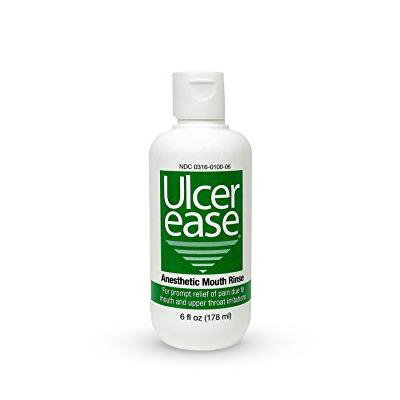UlcerEase Anesthetic Mouth Rinse 6.0 oz.(pack of 4)