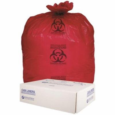 Inteplast Group SL3036R 20-30 gal 30 x 36 in. 1.3 mm Institutional Low Density Can Liners, Red