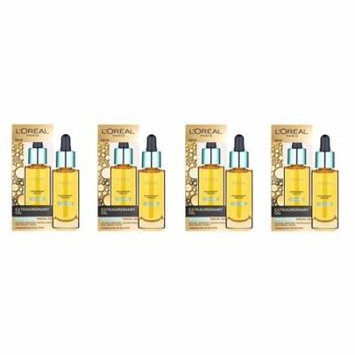 L'Oreal Paris Nutri Gold Extraordinary Facial Oil for Dry Skin, 1 Oz (Pack of 4) + 3 Count Eyebrow Trimmer