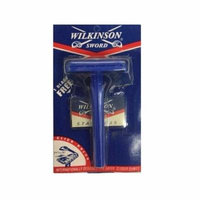 Wilkinson Sword Double Edge Click Safety Razor (Blue) + Beyond BodiHeat Patch, 1 Ct