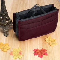 Storage Package Cosmetic Bag Multifunctional Travel Pockets Handbag Storage Bag Fadish Travel Organizer Makeup Bag Swimming Bags Wine Red