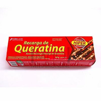 Brazilian Hair Tratment Keratin Recharge (Recarga de Queratina) by Embelleze -Pack of 3