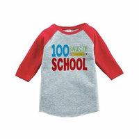 Custom Party Shop Kids 100 Days of School Red Baseball Tee - 3T