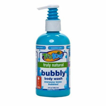 Trukid Bubbly Body Wash, Daily Natural Cleansing, Nourishing, and Gentle, Light Citrus Scent, 8 oz