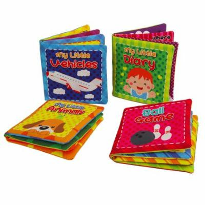 Quner Soft Fabric Book baby cloth book Cover Book Gift for Babies Pack of 4