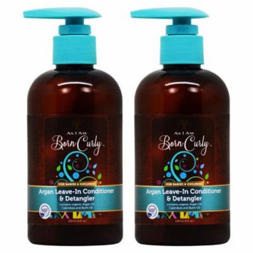 As I am Born Curly Argan Leave In Conditioner & Detangler 8oz