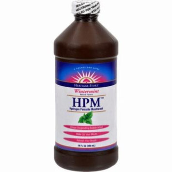 Heritage Products Hpm Hydrogen Peroxide Mouthwash Wintermint - 16 Fl Oz