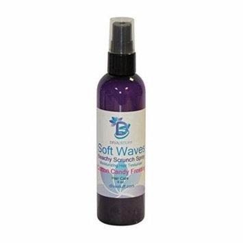 Soft Waves Beachy Scrunch Spray, Moisturizing Hair Texturizer, Cotton Candy, By Diva Stuff