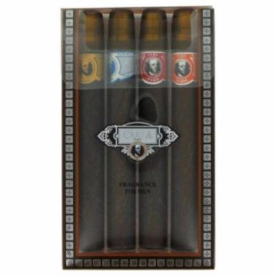 Fragluxe FX2550 Cuba Blue by Cuba Variety Set, Includes All Four 1.15 oz Sprays, Cuba Red, Blue, Gold & Orange
