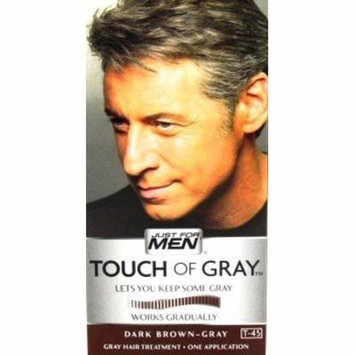 Just For Men Touch Of Gray T-45 Dark Brown (3-Pack) with Free Nail File