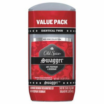 Old Spice Red Zone Collection Invisible Solid Swagger 5.2 oz.(pack of 2)