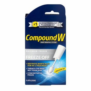 Freeze Off Wart Removal System - Effectively Removes Warts in as Few as One Treatment - 8 Disposable Applicators, Easily and effectively remove warts in.., By Compound W