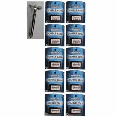Double Edge Safety Razor + Wilkinson Sword Double Edge Razor Blades, 10 ct. (Pack of 10) + Beyond BodiHeat Patch, 1 Ct