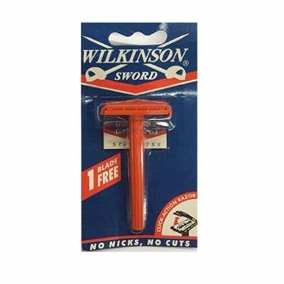 Wilkinson Sword Double Edge Click Safety Razor (Red) + Beyond BodiHeat Patch, 1 Ct