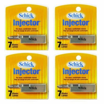 Schick Injector Blades, 7 Ct. Each (Pack of 4) + Scunci Black Roller Pins, 18 Pcs