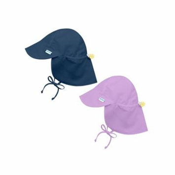 i play Baby and Toddler Flap Sun Protection Hat-Navy and Purple/Lavender - 2 Pack