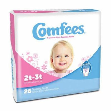 Comfees girl training pants - size 2t-3t part no. cmf-g2 (26/package)