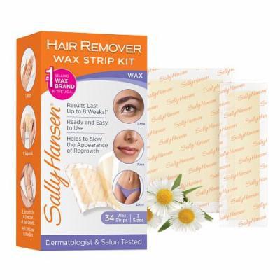 Sally Hansen Hair Remover Wax Strip Kit 1.0 box(pack of 3)