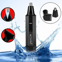 Valentine's Day Gift ! Professional Water Resistant Heavy Duty Stainless Steel Nose Hair Trimmer with LED light Facial hair trimmer BLLK