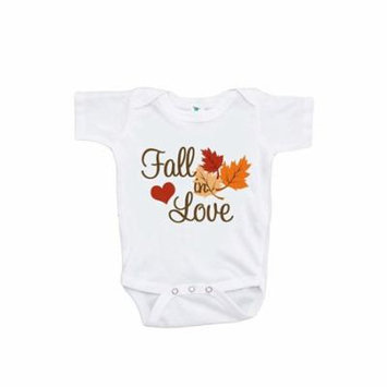 Custom Party Shop Baby's Fall In Love Thanksgiving Onepiece - 6-12 Month Onepiece