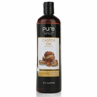 Pure Castor Oil Cold Pressed - 16 FL OZ - BEST 100% Pure Hair Oil - Castor Oil For Hair Growth, Face, Skin Moisturizer, Scalp, Thicker Eyebrows And Eyelashes